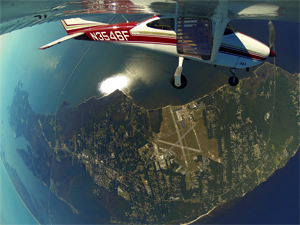 Skydive OBX view from 9000 feet