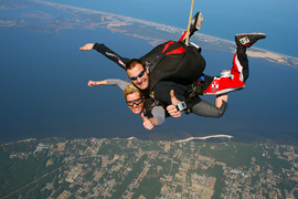 Skydive OBX Freefall 120mph
